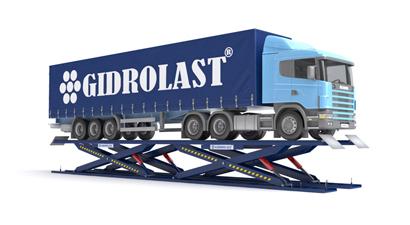 Подъемники пантографные для грузовых автомобилей