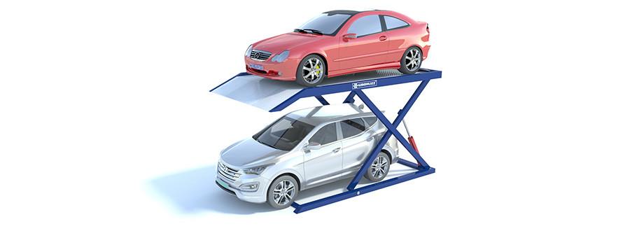 Парковочный лифт для двух легковых автомобилей